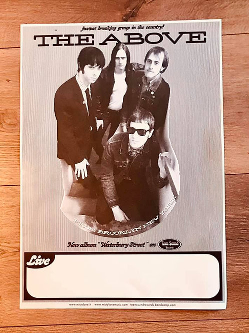 The ABOVE tour poster Teen Sound Records