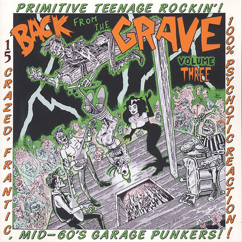 """V/A """"BACK FROM THE GRAVE"""" Vol. 3 Crypt LP"""