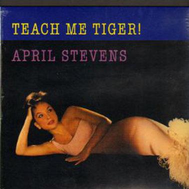 """APRIL STEVENS """"TeachMe Tiger!"""" LP Rumble re"""