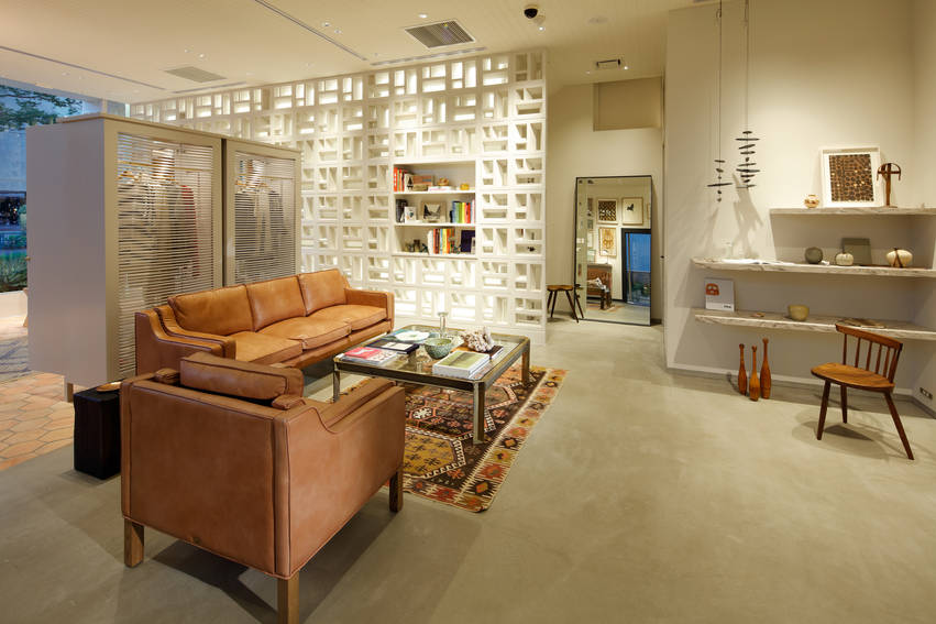 The store resembles the layout of a home to sell its lifestyle brand.