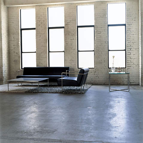 CIBONE coffee table and couch set.