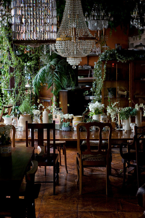 """Event Space Styling """"Cinderella Forest"""" for Vintage Furniture Store Cafe"""