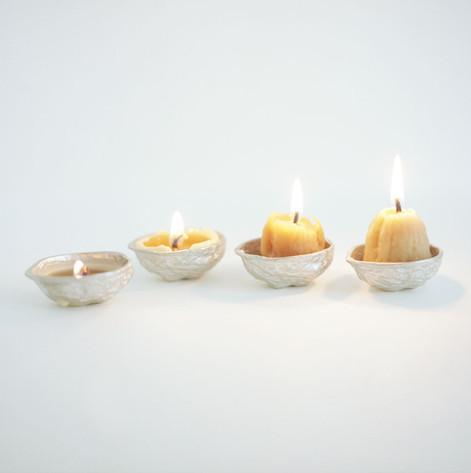 Progression of candle burning.
