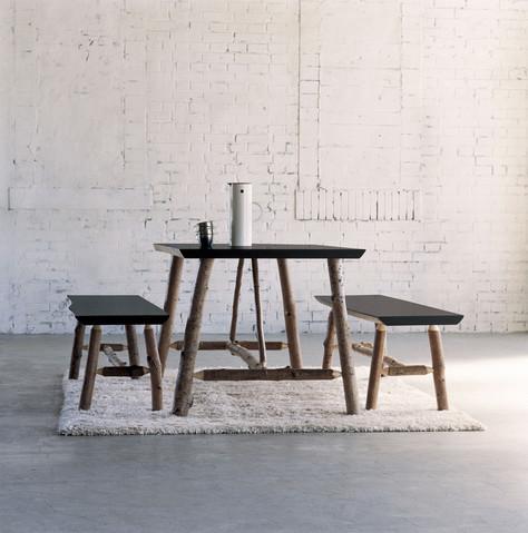 CIBONE mountain table and bench set.