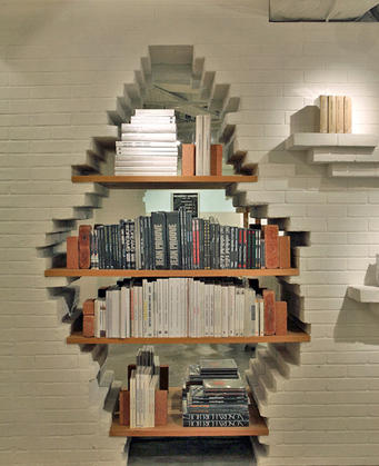 Built-in book display for intrigue.