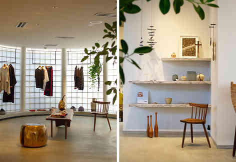 The furniture and displays were curated by Studio Early Birds.