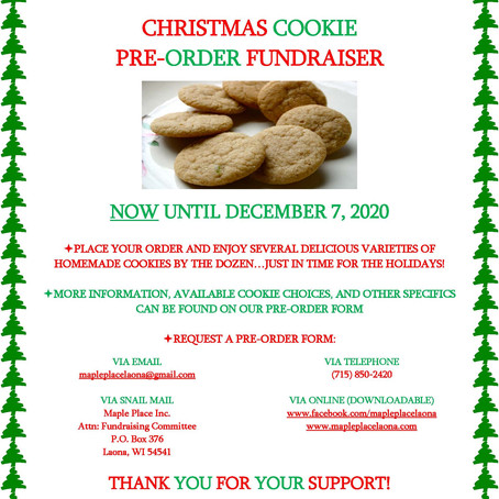 Our Christmas Cookie Pre-Order Fundraiser is Live!
