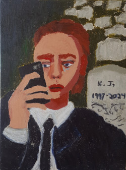 Selfie at the funeral, 2018