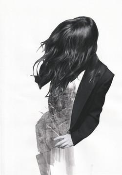 Untld Figure with Black Hair