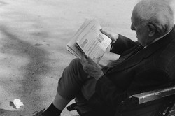 Man Reading Newspaper, 2017