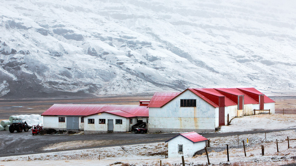 farma na pobřeží východních fjordů
