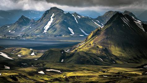 Laugavegur, pohled k jezeru Álftavatn