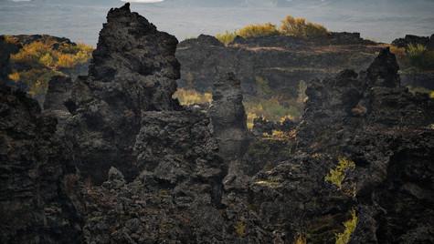 Dimmuborgir, oblast Mývatn