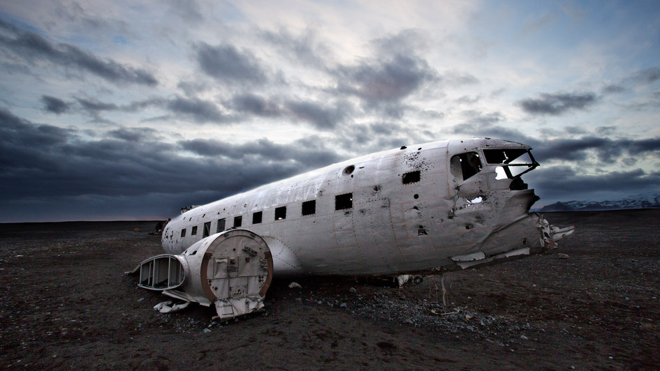 Solheimasandur - vrak letadla