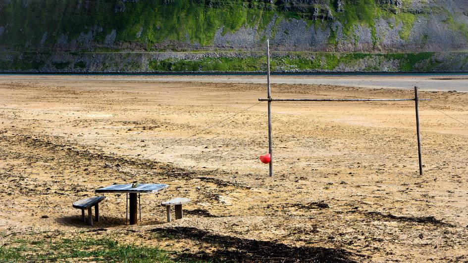 sand beach near road 612, West Fjords, I