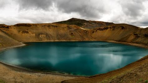 Krafla Víti, oblast Mývatn