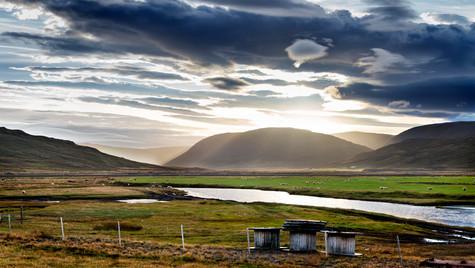 farma v okolí Strandavegur, Západní fjordy