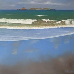 Tempête sur la plage de Saint Enogat