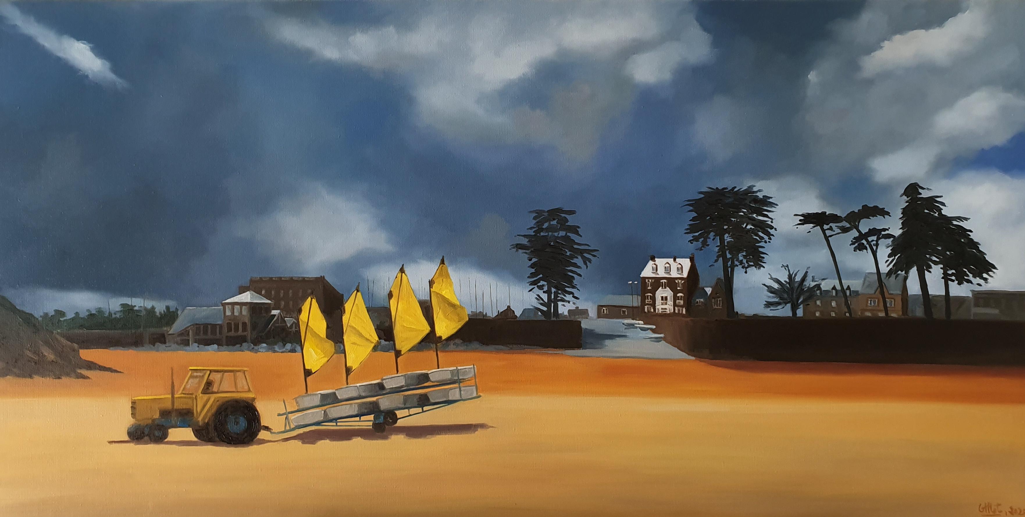 Orage au Yacht club de Saint Lunaire