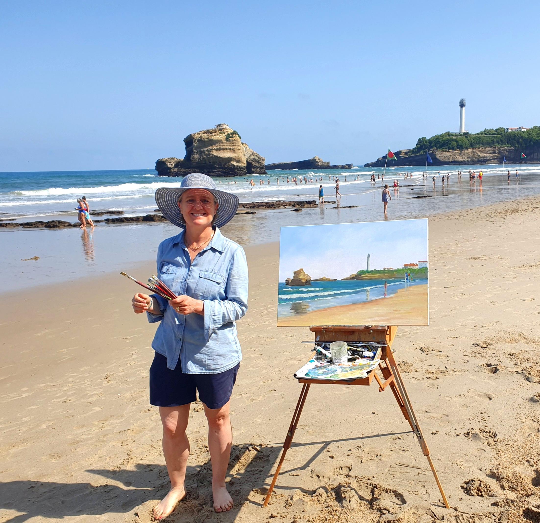 Peindre sur la plage
