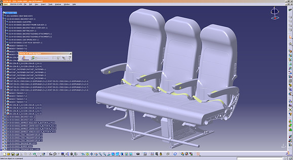 Airliner Seats, Plastic Parts Design by Solaris Design