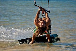 Kite boarding Cancun Mexico