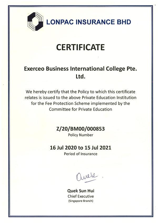 1. FPS Certificate (Lonpac Insurance Bhd