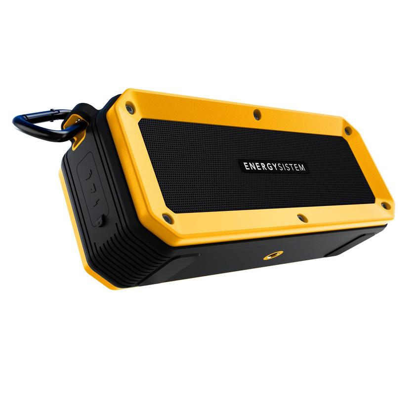 Un altavoz portátil con tecnología Bluetooth diseñado para resistir el agua, el barro o cualquier golpe. Sus opciones de conectividad se adaptan a las circunstancias del usuario: Bluetooth 4.1, tarjeta microSD-MP3, radio FM o entrada de audio de 3.5mm. Con 10W de potencia, el ruido de la carretera no será un problema, y podrás pedalear al ritmo de tu música durante una jornada completa gracias a su batería con 16 horas de autonomía. (59,90€)