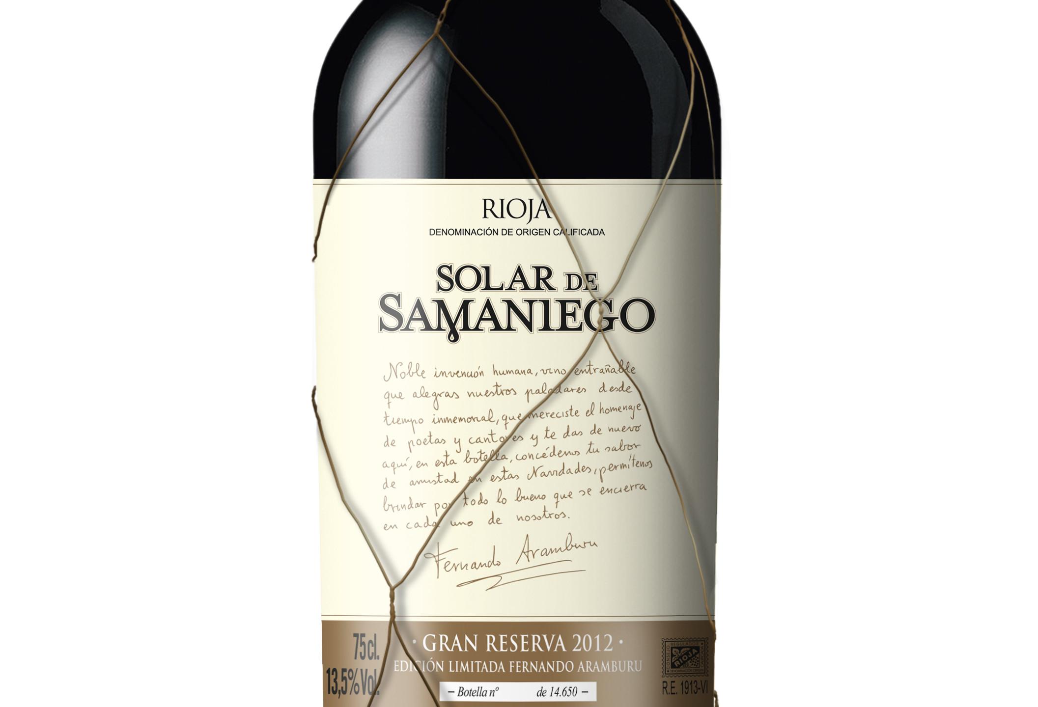 Solar de Samaniego Gran Reserva 2012 (CPV)