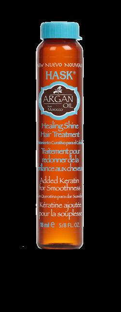 El aceite reparador deLa línea reparadora Argan Oil de Hask  aporta brillo y fuerza. Libre de sulfatos, parabenos, talatos, alcohol y colores artificiales. (2,99€)
