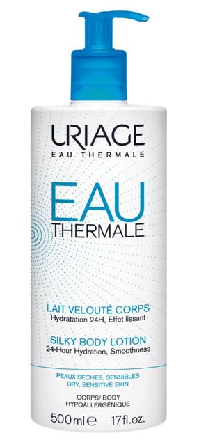 Laboratorios URIAGE lanza una nueva línea de hidratación, en la que incluye la Leche Sedosa, un cuidado diario que proporciona una hidratación óptima durante 24 horas. (14 € / 500 ml)