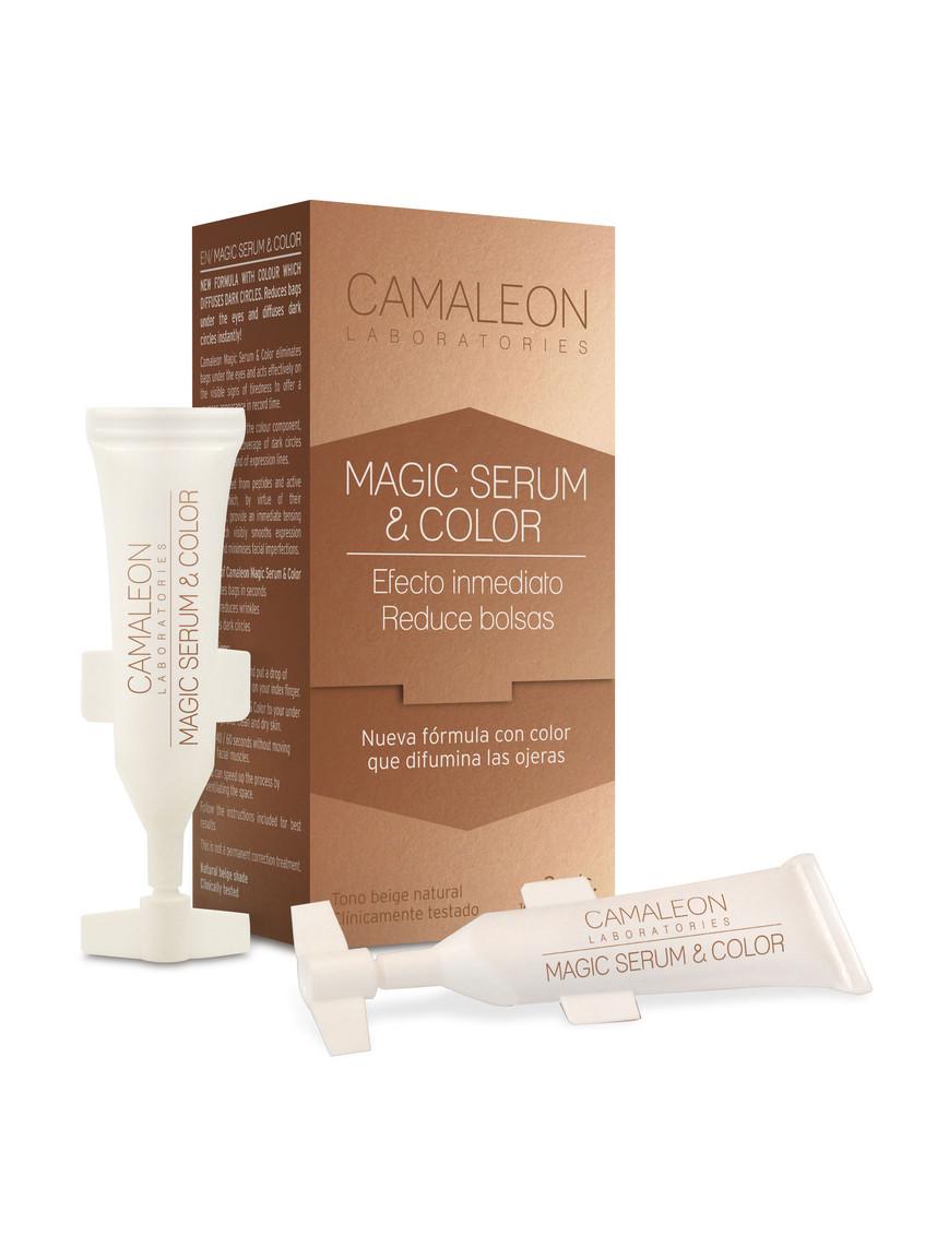 Gracias a la ingeniería molecular Camaleon Magic Serum aportan un efecto tensor inmediato que aporta luminosidad y corrige visiblemente las arrugas y los signos de cansancio en las bolsas y ojeras y lo mejor, que tiene una alta eficacia frente a la formación de nuevas arrugas. (7,90€)