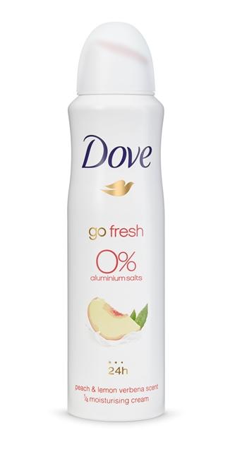 Dove 0 Melocotón y hierba luisa: con un aroma cálido y envolvente que aportará a tu cuerpo una fragancia frutal, un auténtico placer para todos los sentidos. (PVPR aerosol: 3,49€ 200ML y 2,99€ 150ML)
