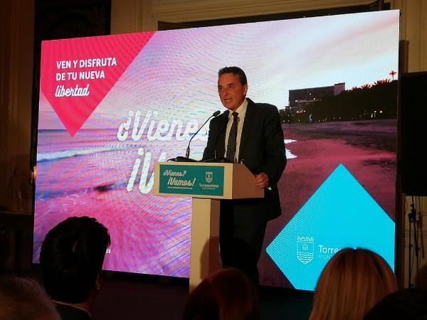José Ortiz, alcalde de Torremolinos, durante la presentación