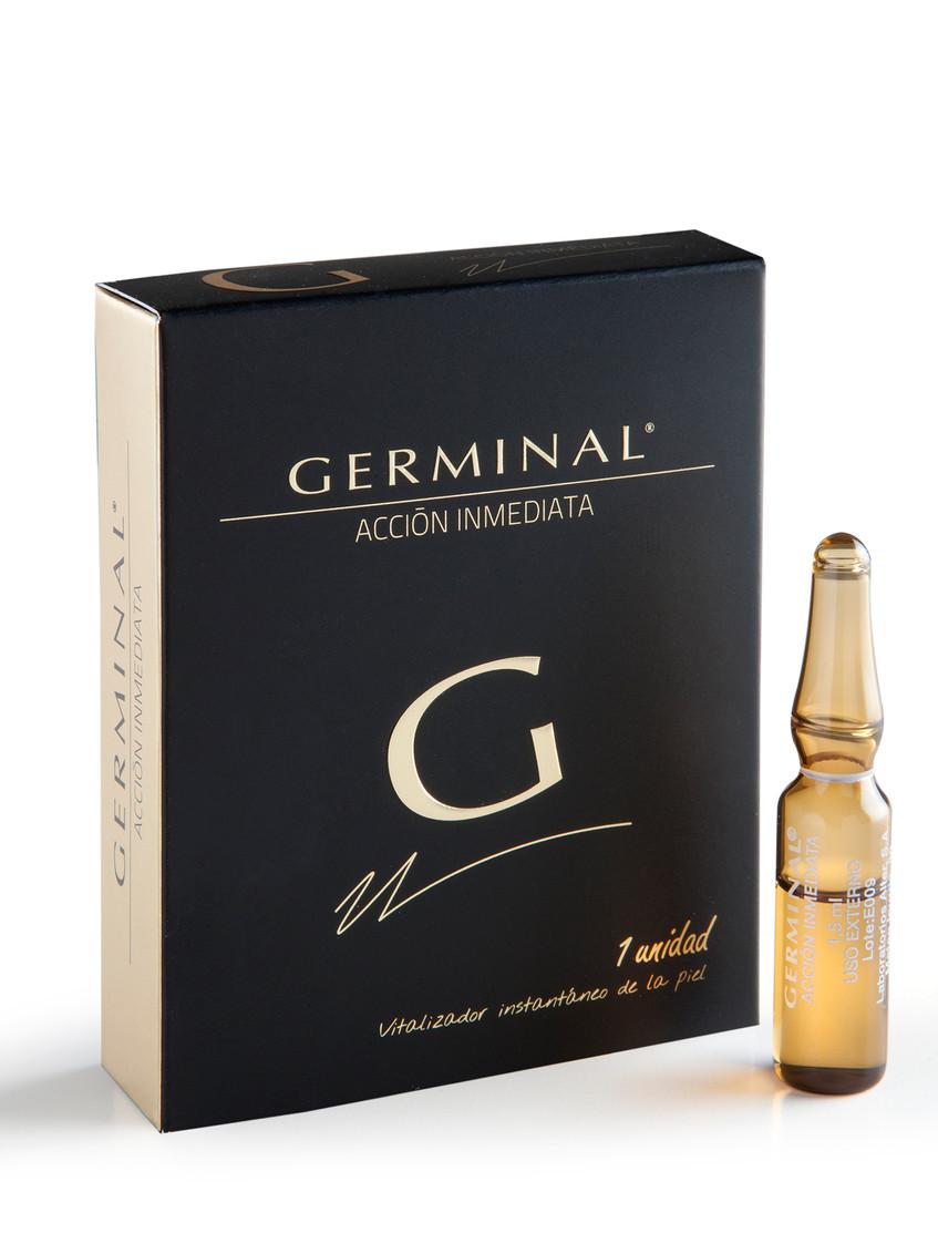 Ampolla Flash Acción Inmediata, perfecta para llevar en el bolsillo, tu piel estará como recién levantado durante 8 horas. (5 ud. De 1,5 ml. 14,65€)