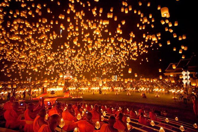 Loi Krathong. Fuente: Thailand holiday