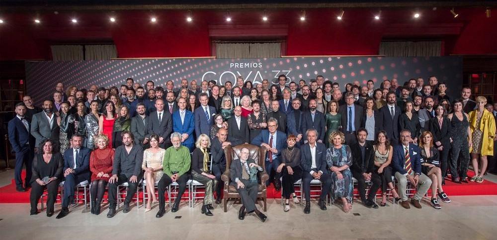 Foto de familia de los nominados: ©Alberto Ortega – Cortesía de la Academia de Cine