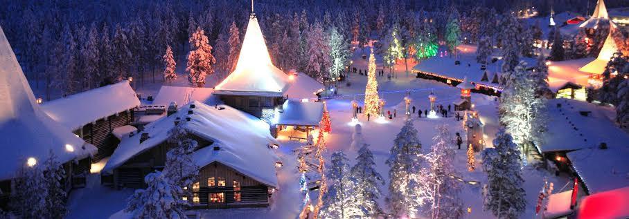 Rovaniemi en Navidad. Foto: www.visitrovaniemi.fi
