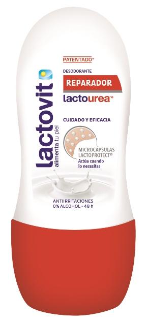 La gama Lactourea de Lactovit, es la línea perfecta para conseguir esta acción ultra hidratante gracias a la Lactourea, un complejo hecho a base de Ácido Láctico y Urea Pura. Desodorante Lactourea Reparador, con los beneficios de la Urea, ingrediente con alto poder hidratante y reparador. 50ml – 1,98€