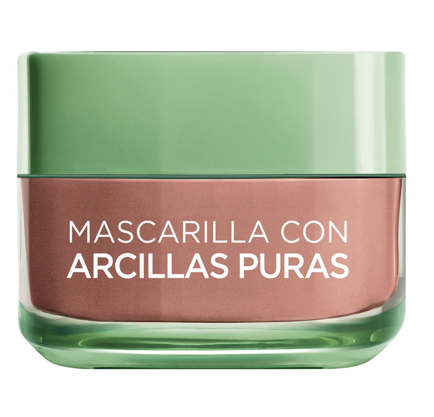 Exfolia, uniformiza y minimiza los poros. 3 Arcilla Puras + Alga Roja. Para pieles con textura irregular.