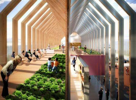 Diseño del pabellón de España