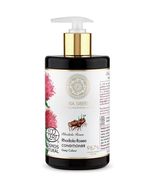 """Este bálsamo de Natura Siberica contiene Rhodiola Rosea, conocida como """"la raíz de oro de Siberia"""", fuente natural de aceites esenciales y antioxidantes que aportan nutrición y reparación al cabello coloreado. Otra de las principales características de la Rhodiola Rosea es su efecto suavizante, que ayuda a conseguir una melena suave y sedosa, facilitando su peinado.  (10,95€/480 ml)"""
