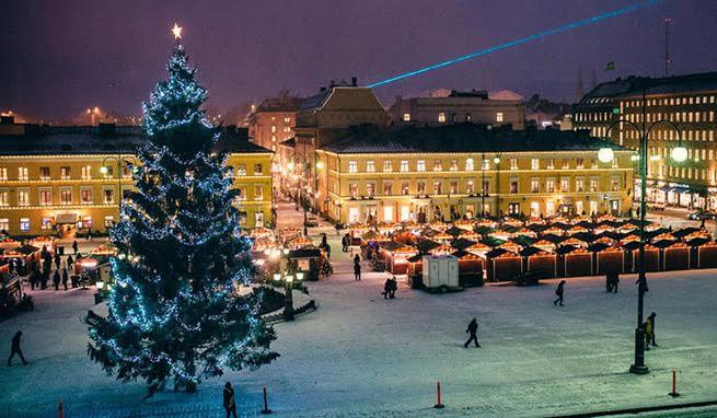 Helsinki en Navidad. Foto: A vuela pluma
