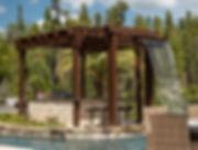 custom designed water feature pergola in tampa