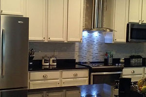 beautifully remodeled kitchen custom cabinets and lght fixtures in ruskin, FL