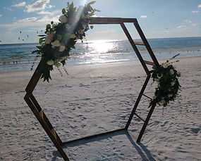 custom arch built wedding arch