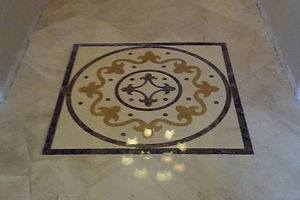 inlayed marble design