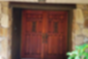 exterior doors refinished by hand