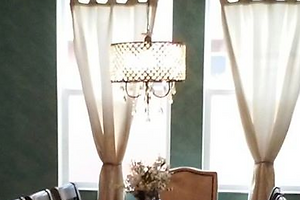 small beautiful chandelier