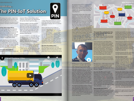 PIN IoT CEO Interviewed for Skip Hire Magazine